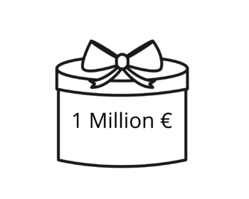 Eine Million geschenkt